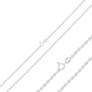 OLIVIE Zatočená 50cm strieborná retiazka 4385 Ag 925; ≤2,6 g.
