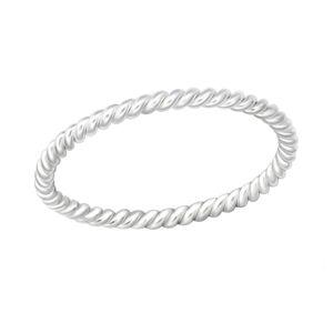 OLIVIE ZATOČENÝ strieborný midi prsteň 4408 Ag 925; ≤0,3 g.