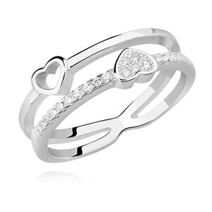 OLIVIE Strieborný prsteň TY A JA 4549 Veľkosť prsteňov: 5 (EU: 47 - 50) Ag 925; ≤1,8 g.