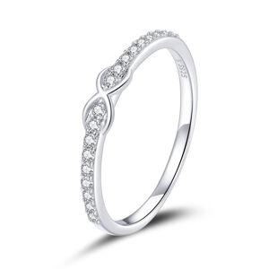 OLIVIE Strieborný prsteň NEKONEČNO 4711 Veľkosť prsteňov: 6 (EU: 51-53) Ag 925; ≤1,1 g.