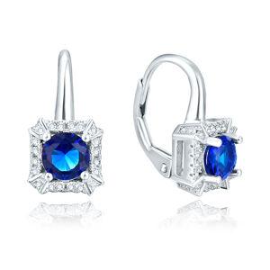 OLIVIE Strieborné náušnice BLUE 4855 Ag 925; ≤3,4 g.