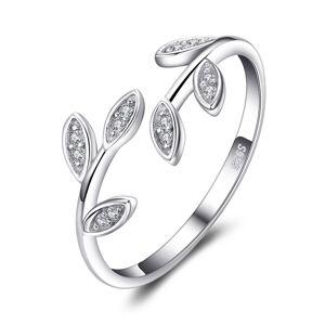 OLIVIE Strieborný prsteň VETVIČKA so zirkónmi 4887 Ag 925; ≤1,5 g.
