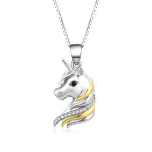 OLIVIE Strieborný náhrdelník JEDNOROŽEC 4889 Ag 925; ≤5,2 g.