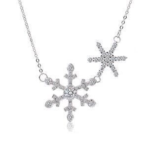 OLIVIE Strieborný náhrdelník SNEHOVÉ VLOČKY 4947 Ag 925; ≤3,2 g.