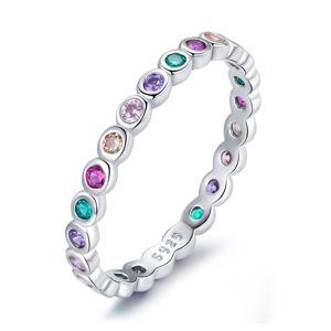 OLIVIE Strieborný prsteň COLORS 5021 Veľkosť prsteňov: 6 (EU: 51 - 53) Ag 925; ≤1,5 g.