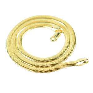 OLIVIE Strieborný plochý 45cm náhrdelník GOLD 5098 Ag 925; ≤17 g.