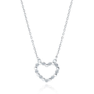 OLIVIE Strieborný náhrdelník SRDIEČKO 5201 Ag 925; ≤2 g.