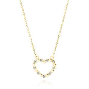 OLIVIE Strieborný náhrdelník SRDCE GOLD 5209 Ag 925; ≤2 g.