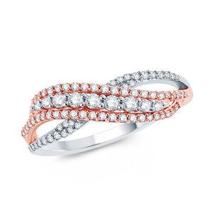 OLIVIE Luxusný strieborný prsteň BRILLANT 5353 Veľkosť prsteňov: 7 (EU: 54-56) Ag 925; ≤2,6 g.
