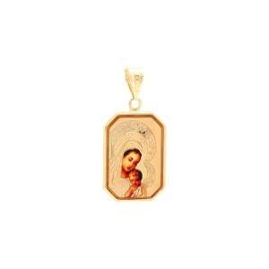Medailón Panny Márie s dieťaťom